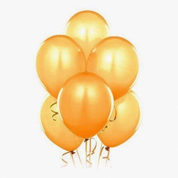 (6) Golden Helium Balloons