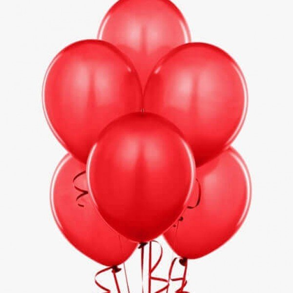 (6) Red Helium Balloons