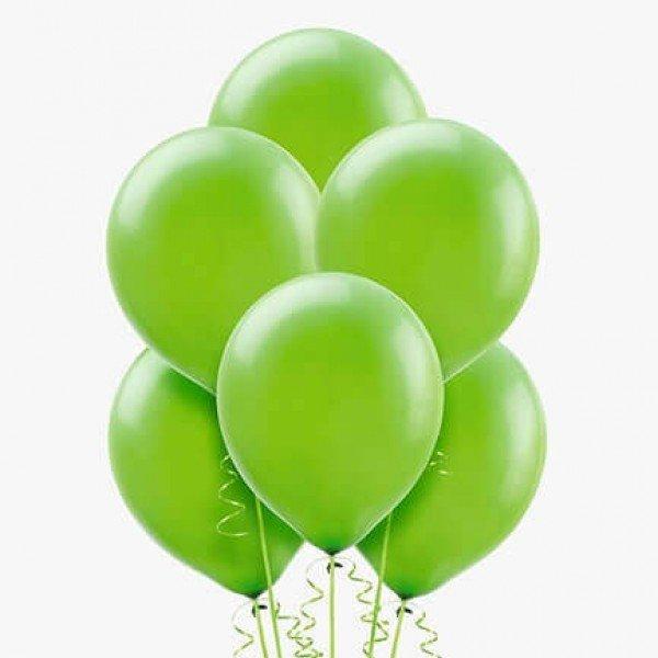 (6) بالونات هيليوم لون أخضر