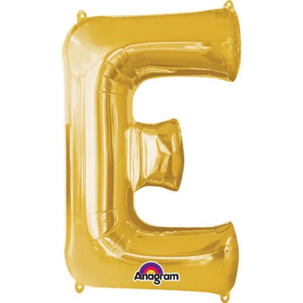 GOLDEN E Letter Balloon