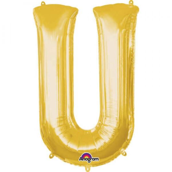 GOLDEN U Letter Balloon
