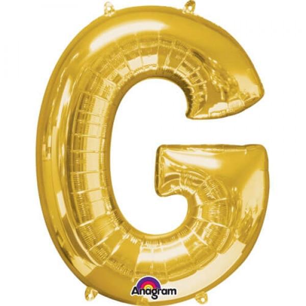 GOLDEN G Letter Balloon