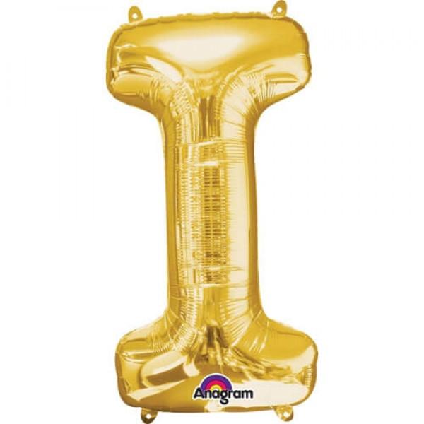 GOLDEN I Letter Balloon