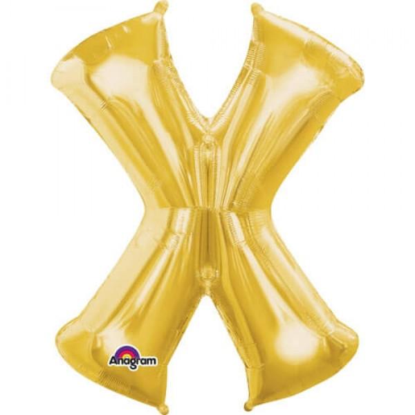 GOLDEN X Letter Balloon