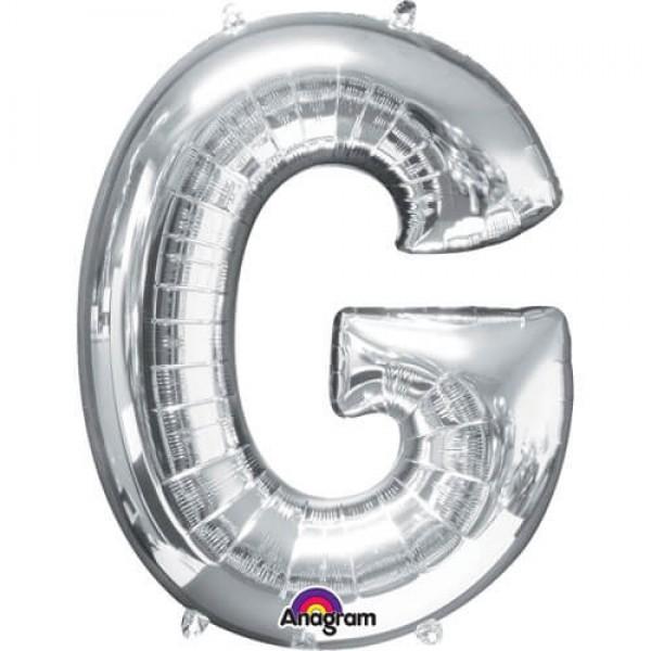 SILVER G Letter Balloon