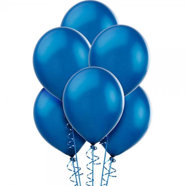 (12) Royal Blue Helium Balloons