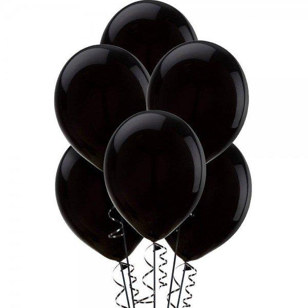 (6) Black Helium Balloons